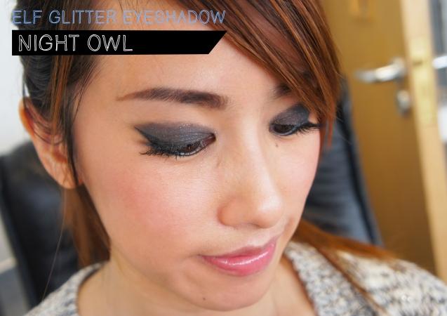 elf Glitter Eyeshadow in Night Owl
