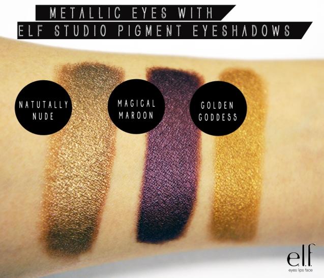 elf studio pigment shadow swatches