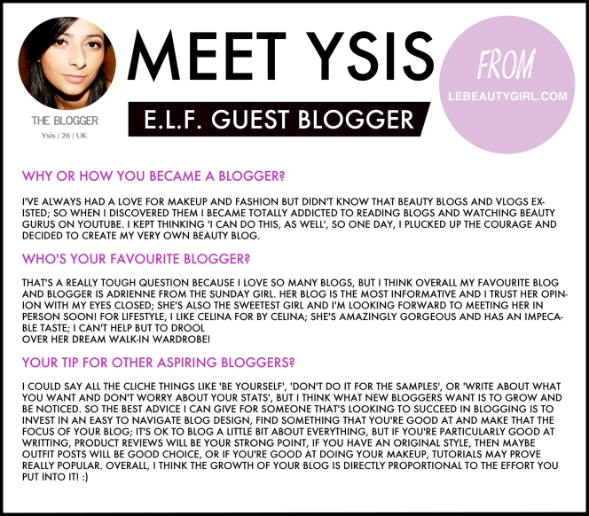 Ysis from LeBeautyblog.com