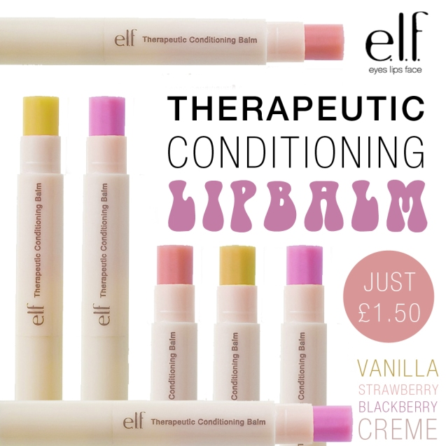 elf therapeutic conditioning lipbalms