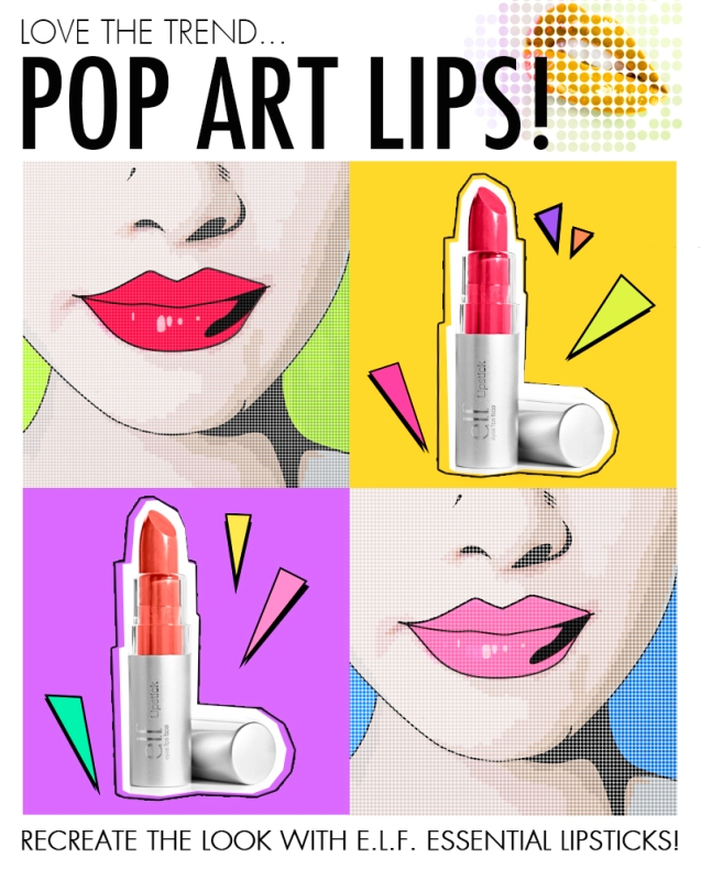 e.l.f. pop art lips