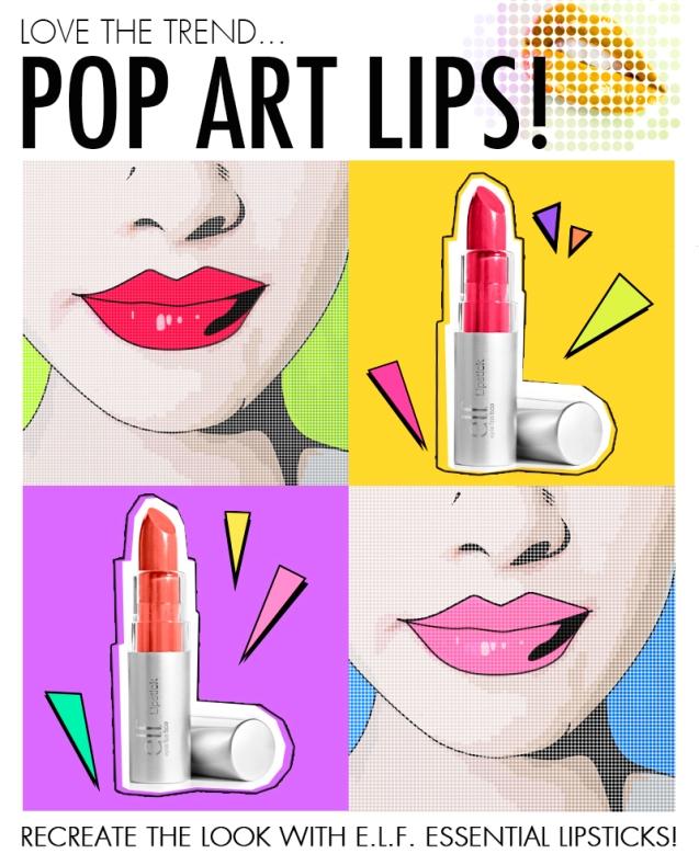 e.l.f. pop art lips