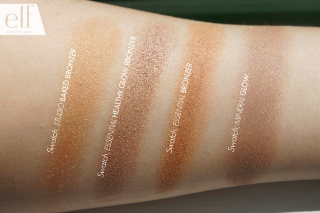 elf Bronzers Swatches