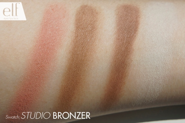 elf studio cool bronzer swatches