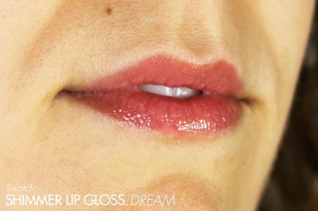shimmer lip gloss dream swatch