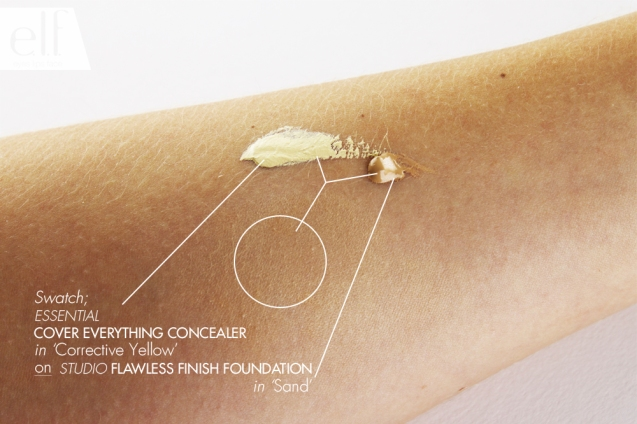 cover everything concealer - corrective yellow elf