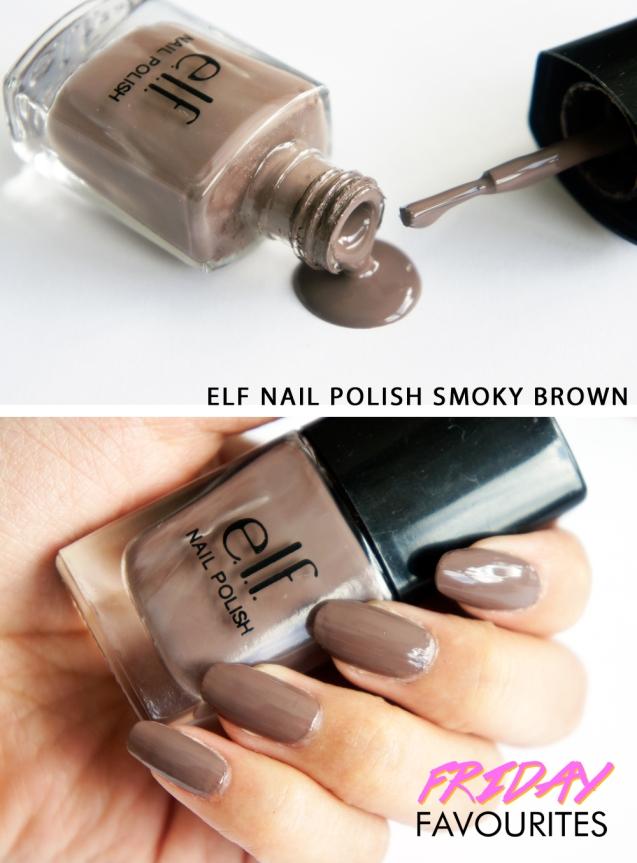 Elf nail polish smokey brown