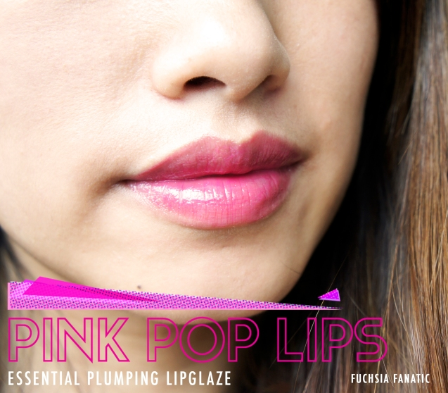 elf essential lip plumping lip glaze in Fuchsia Fantatic