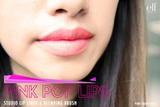 elf Studio Lip liner and Blending Brush in Pink Grapefruit