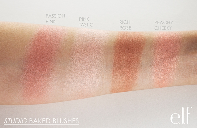 baked blush swatches