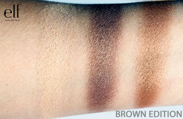 elf get the look brown edition swatch