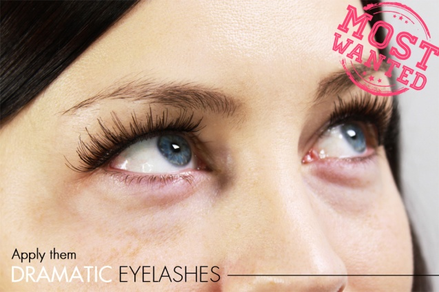 Dramatic eyelashes_Apply them