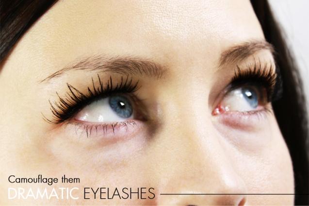 Dramatic eyelashes_camouflage them
