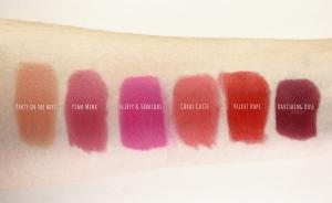e.l.f lipstick swatches