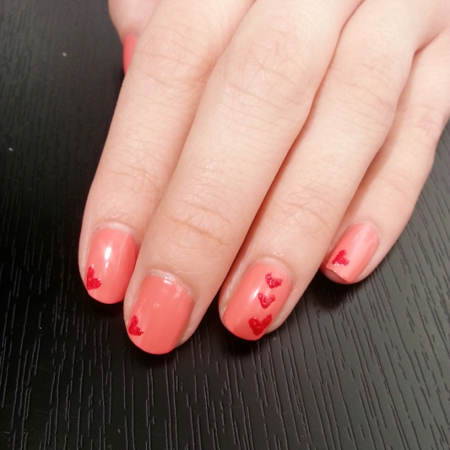 Heart theme Nail art
