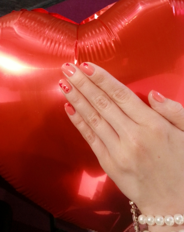 Red theme nail art