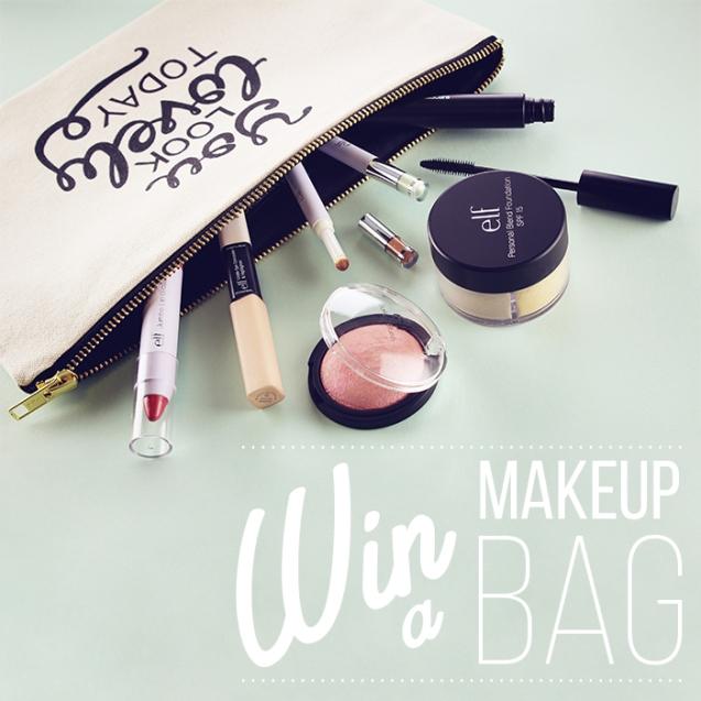win a makeup  bag
