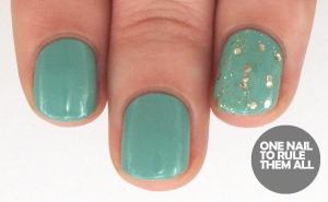 Gold glitter nail varnish