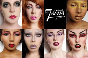 e.l.f. Cosmetics UK 7 Deadly Sins Makeup Looks
